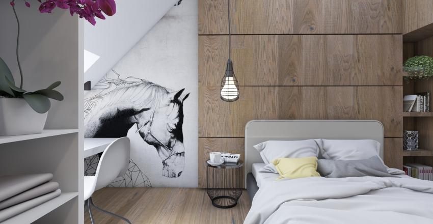Loft moderno Interior Design Render