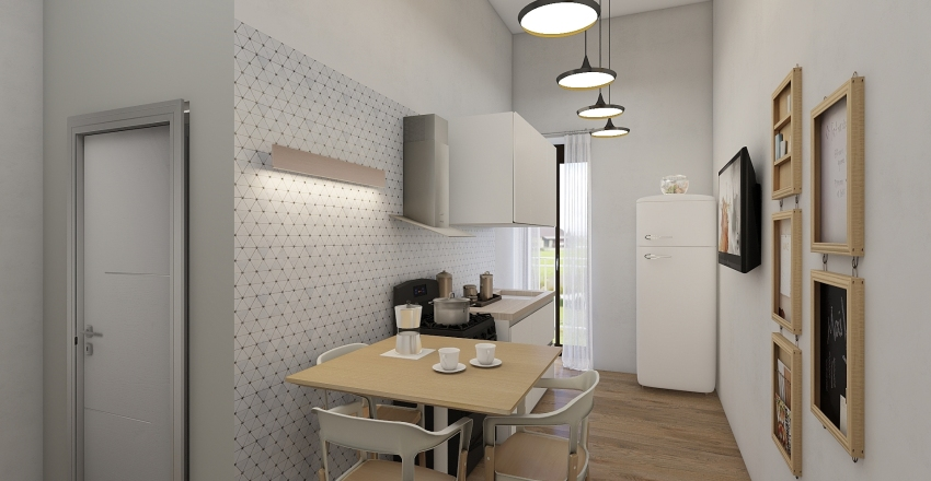 Appartamento per studenti Interior Design Render