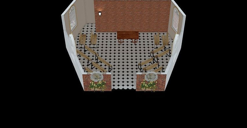 Capela hexagonal Interior Design Render