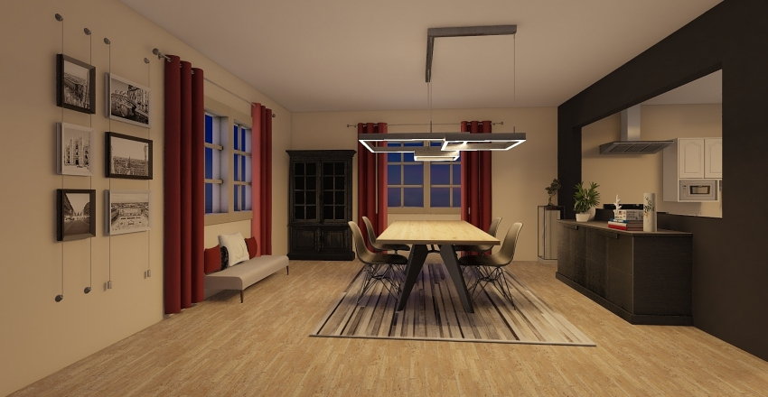 YILBAŞI KIRMIZISI Interior Design Render