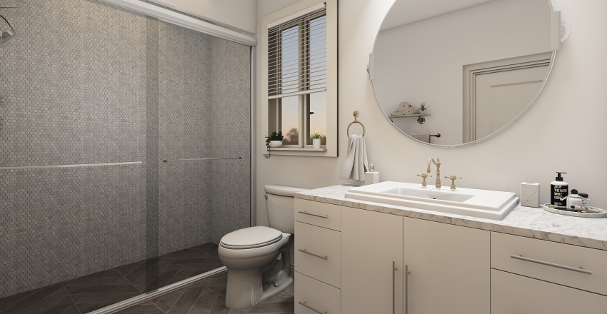 Bathroom mockup Interior Design Render
