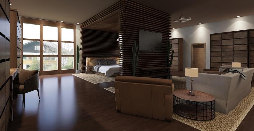 Luxury Hotel Suite Interior Design Render