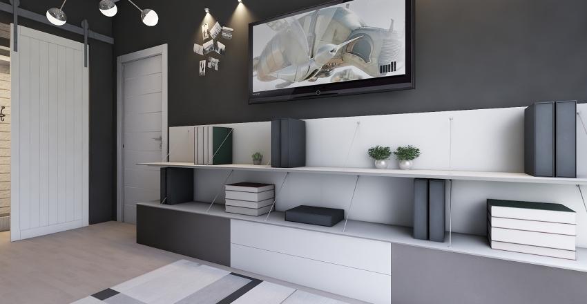 Black&White MiniRoom Interior Design Render