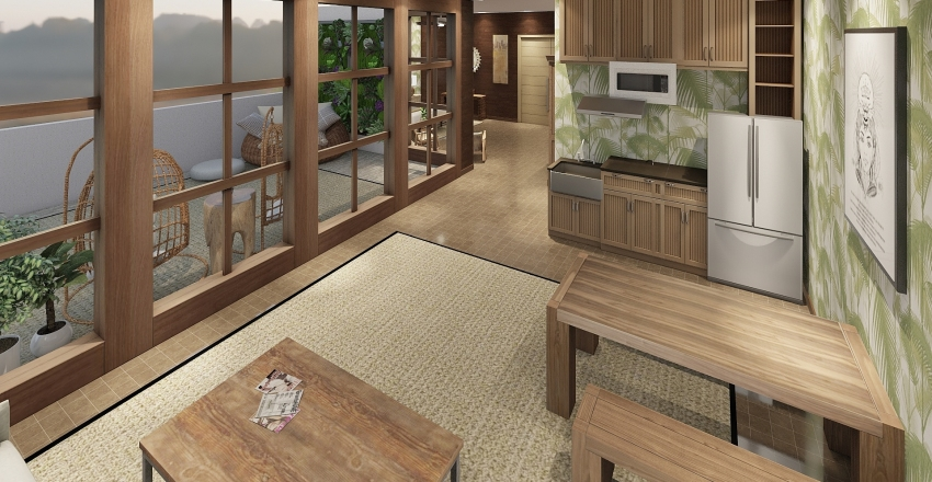 Tropical Palms Suite Interior Design Render