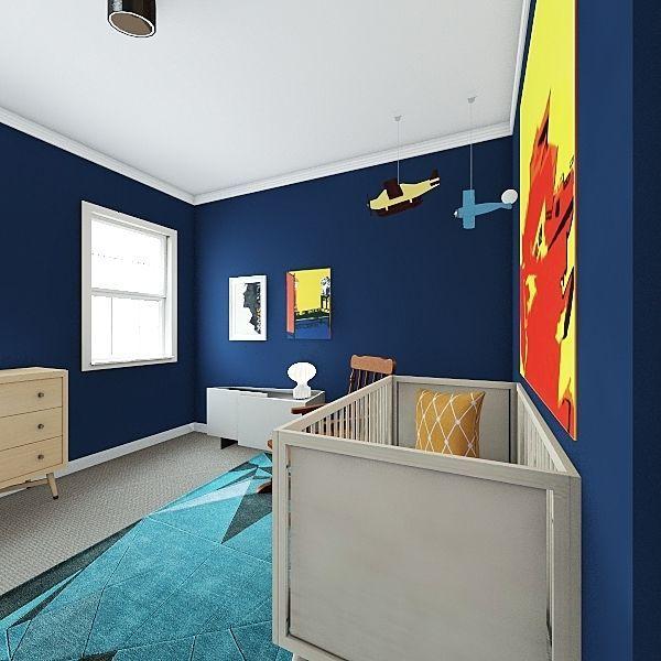 Boy's Nursery Interior Design Render
