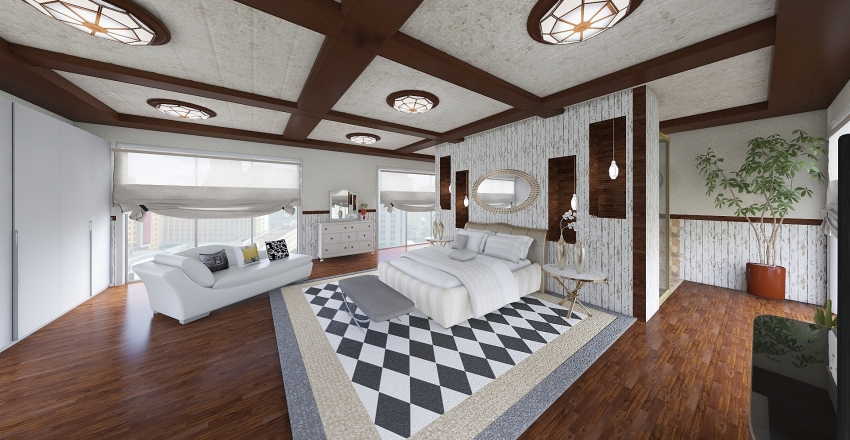 camera...matrimoniale Interior Design Render