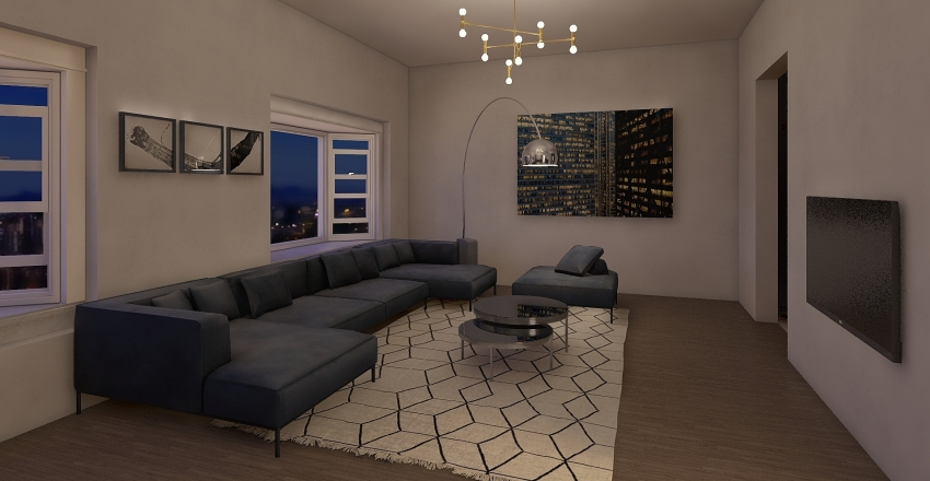 tamarkin townhouse Interior Design Render