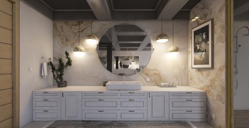 Penthouse Bathroom Interior Design Render
