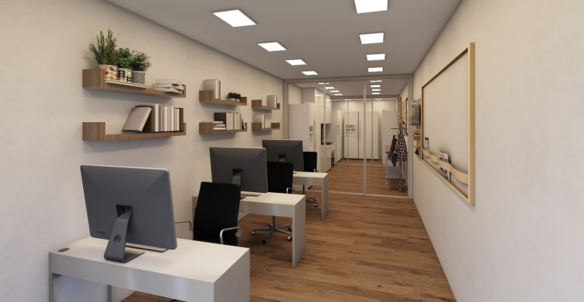 Small lab and office Interior Design Render