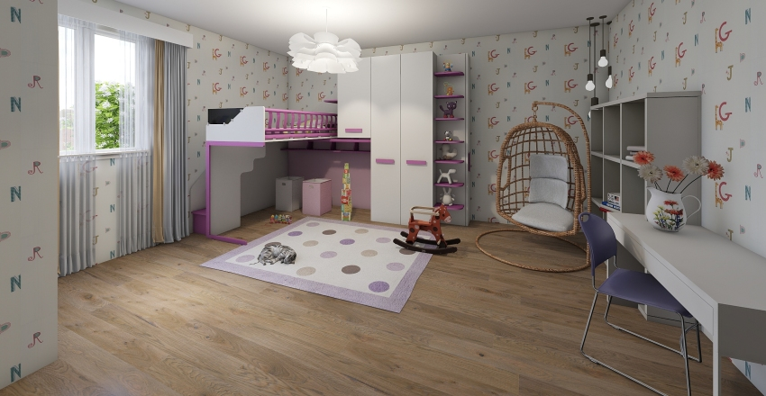 kids rooms Interior Design Render