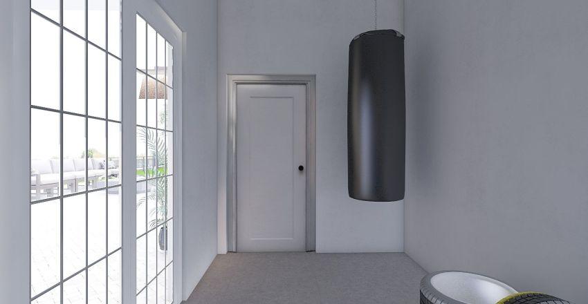 Country Modern Home Interior Design Render