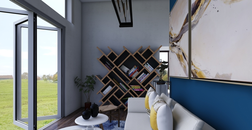 Swedish Design Interior Design Render