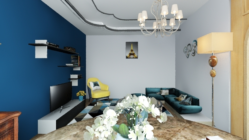 small flat  Interior Design Render