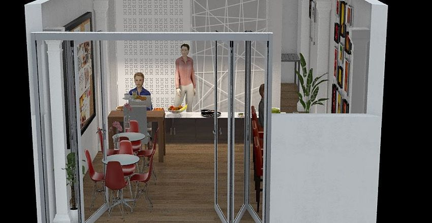 opcion 2 comedor Interior Design Render