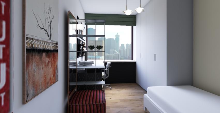 Student's flat Interior Design Render