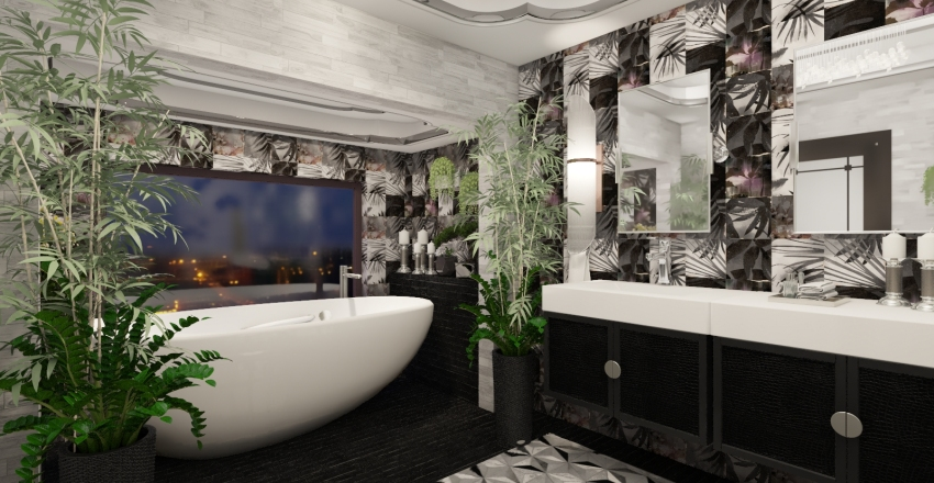 Lux bedroom Interior Design Render