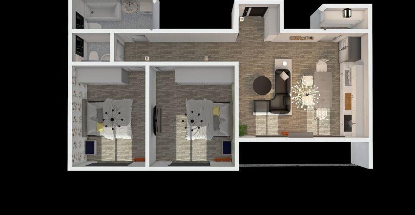 Ap 3 camere parter Interior Design Render