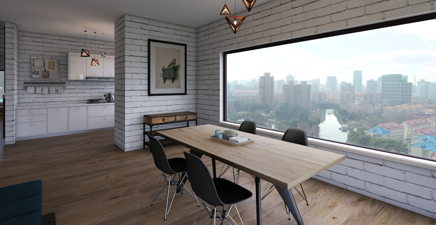 high-rise apartment Interior Design Render