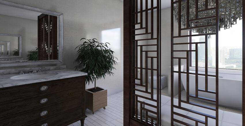 Suíte de luxo Interior Design Render