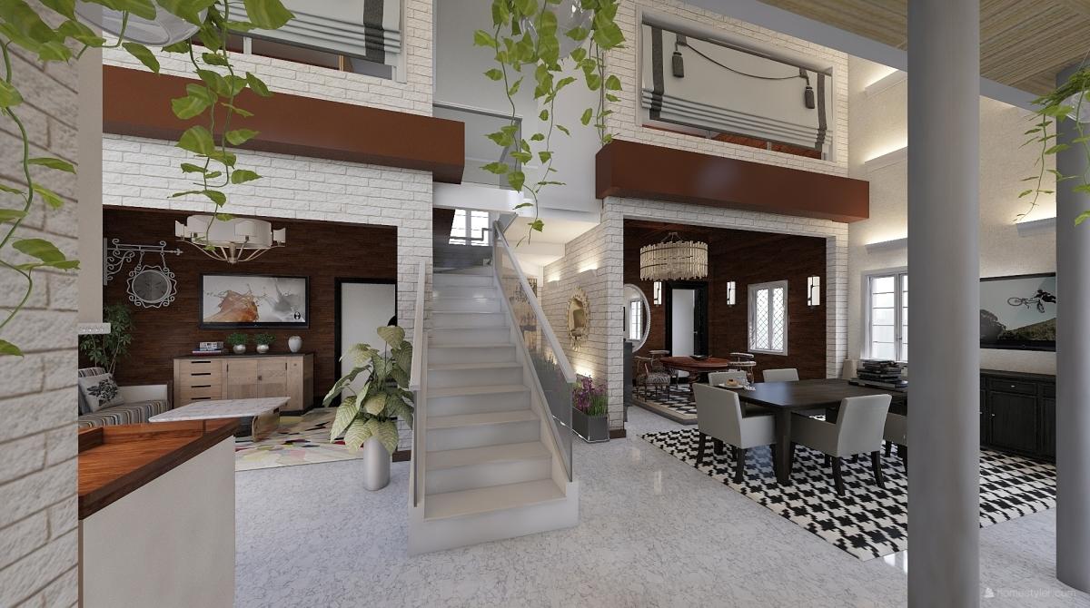 Appartamento quadrilocale interior decoration rendering for Homestyler italiano