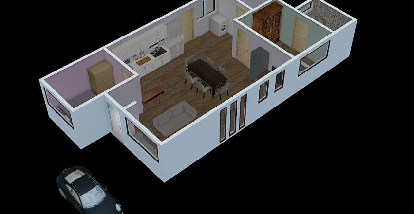 Conitaner 40'x2 Interior Design Render