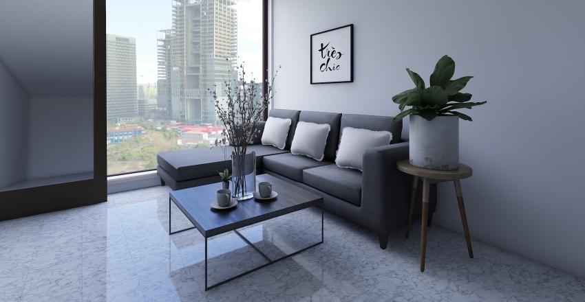 Minimalist Modern house Interior Design Render