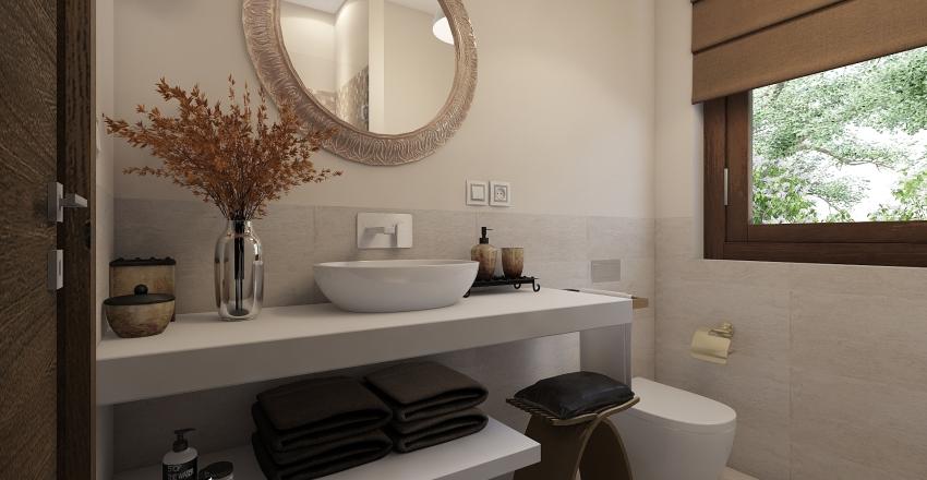 Nuovo layout di un piccolo appartamento Interior Design Render