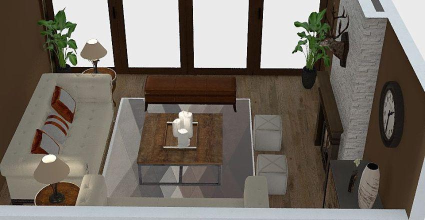 Salón Rústico JVR  Interior Design Render