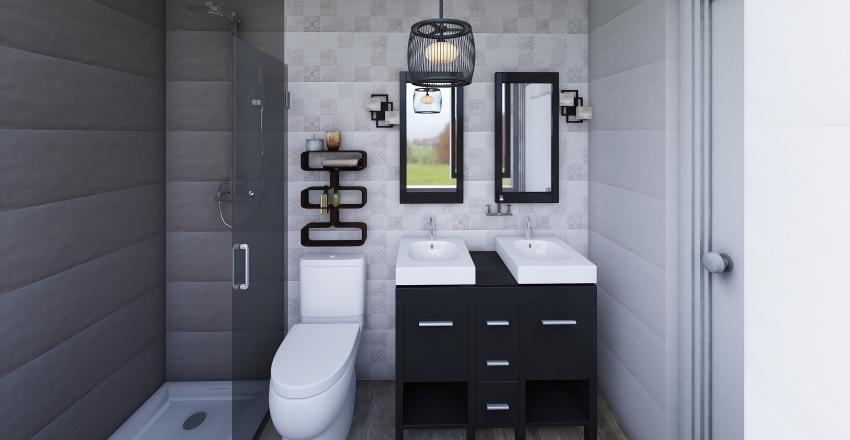 baño pequeño midtown Interior Design Render