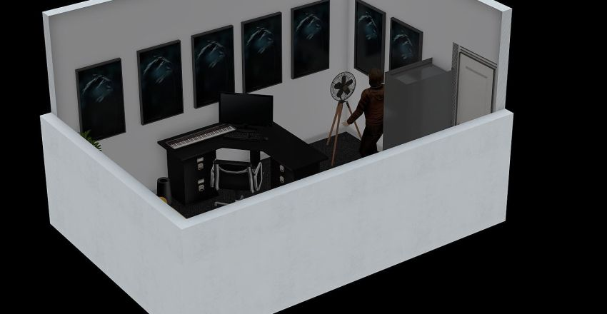 Oka's Studio Interior Design Render