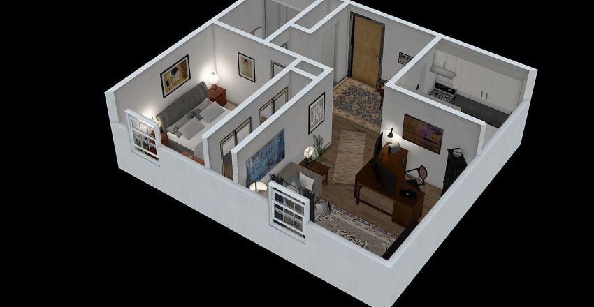 McCown - Annex - 509sf Interior Design Render