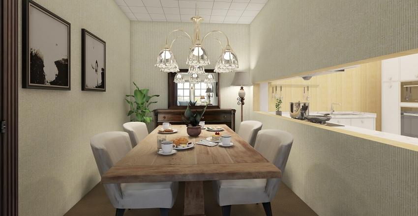 Old Retro Apartment  Interior Design Render
