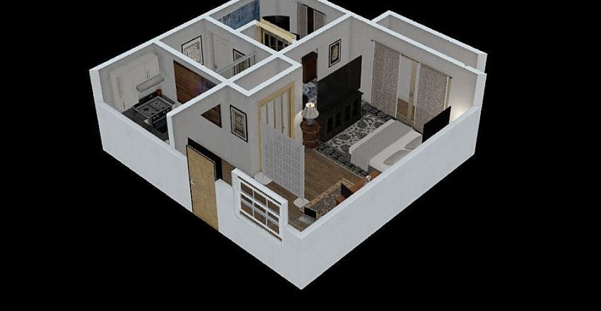 McCown - Tower - 415sf Interior Design Render