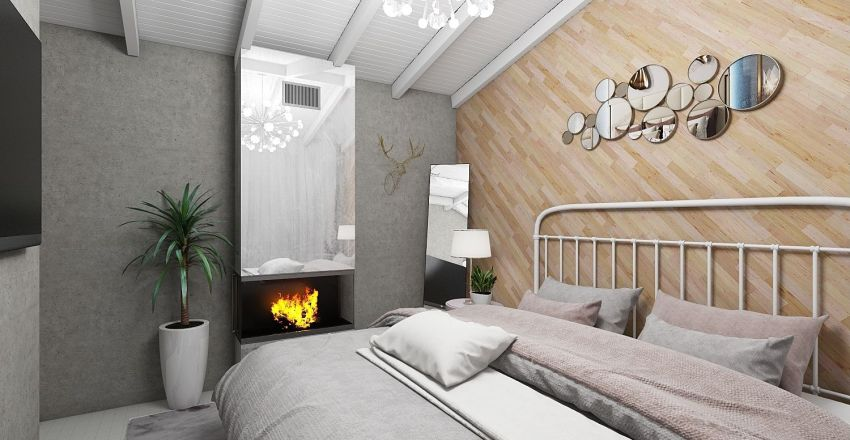 cozy bedroom for young woman Interior Design Render
