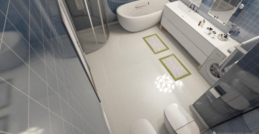The plan of the apartment Interior Design Render
