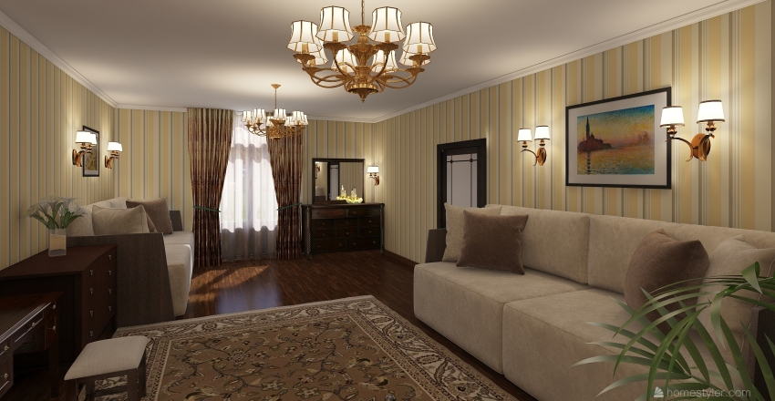 Квартира 3 Interior Design Render