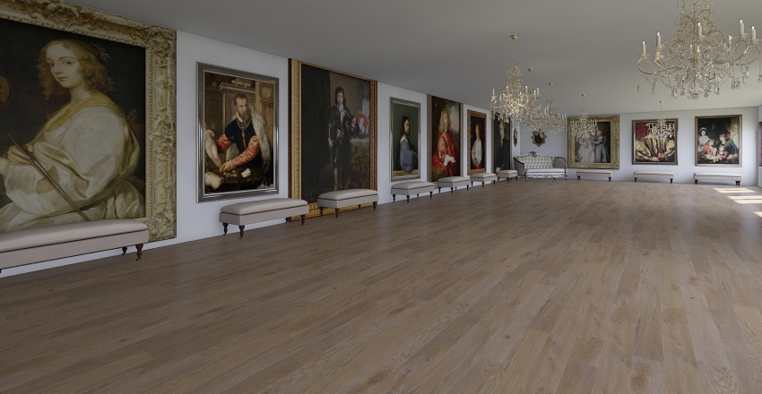 royal gallery Interior Design Render