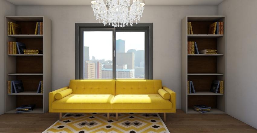 small London bungalow Interior Design Render