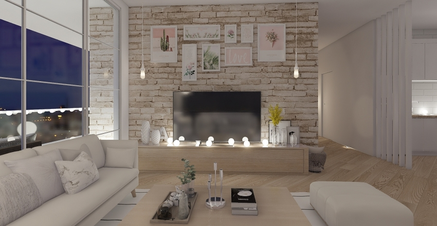 Departamento Interior Design Render
