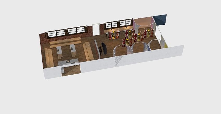文教中心 Interior Design Render