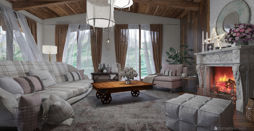 come una volta Interior Design Render