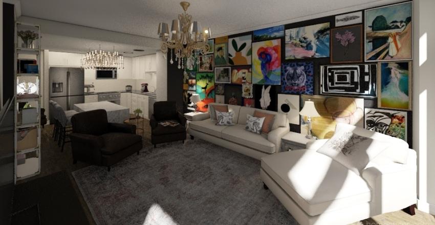 Woodly @ DC 2 bedroom Interior Design Render