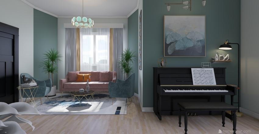 #HSDA 2020 Modern artists Apartment Interior Design Render