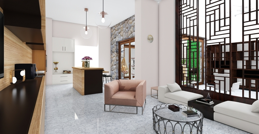 casa ostra Interior Design Render