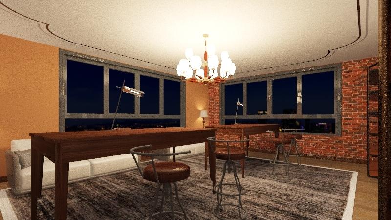 AVID Restaurant Interior Design Render
