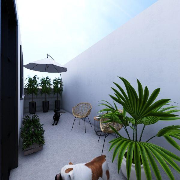Sala Atual - Proposta de Reforma Interior Design Render