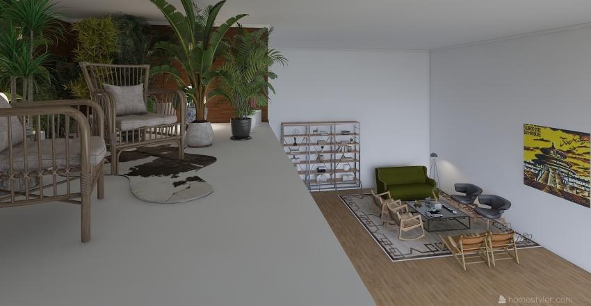 Tropical Bedroom Interior Design Render