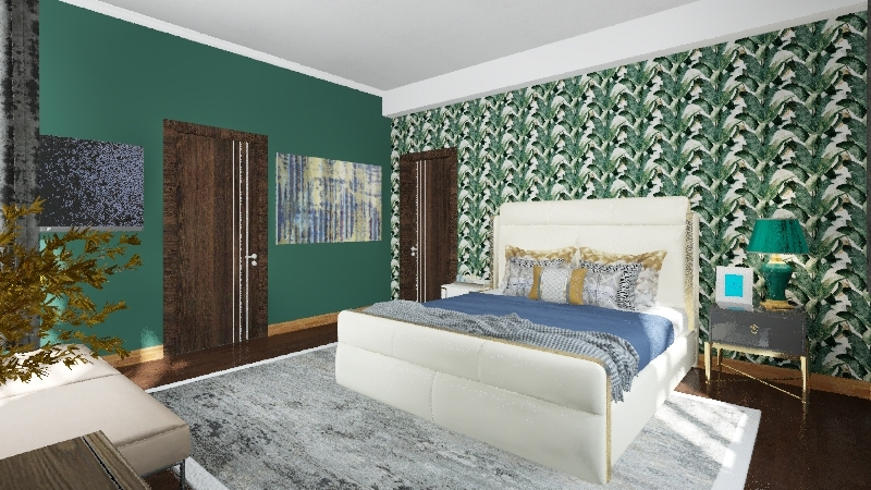 one bed apartment Interior Design Render