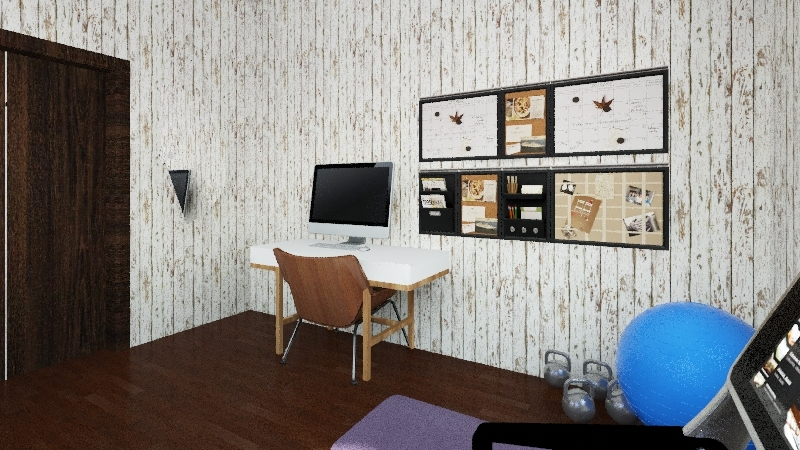 one bed apartment Interior Design Render