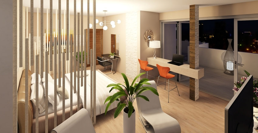 Flat Interior Design Render
